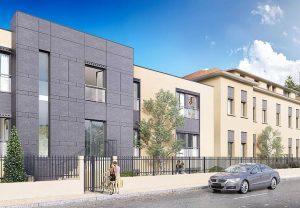 programme déficit foncier-résidence neuve rue arbres voiture ciel bleu