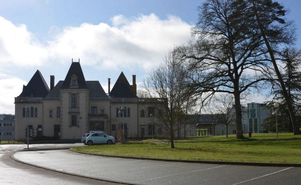 immobilier locatif-demeure ancienne espaces verts arbre voiture ciel bleu