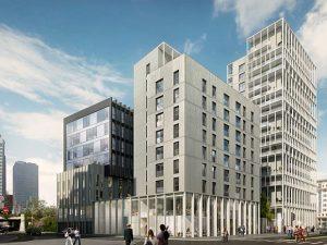 Immobilier Part Dieu appartement immeuble facade 3D lyon