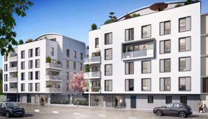 Appartement a vendre Caluire Façade d'immeuble en 3D