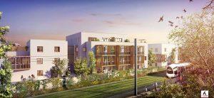 programme immobilier-résidence neuve espaces verts ligne de tramway