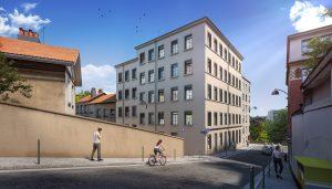 deficit foncier exemple-façade immeuble rue passants ciel bleu