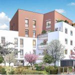 investissement immobilier-résidence neuve espaces verts habitants ciel bleu
