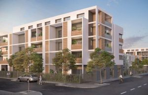 défiscalisation- residence neuve arbres passants cyclistes rue ciel bleu