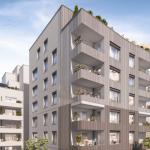 défiscalisation immobilier neuf-résidence neuve balcons fleuris arbres ciel nuageux