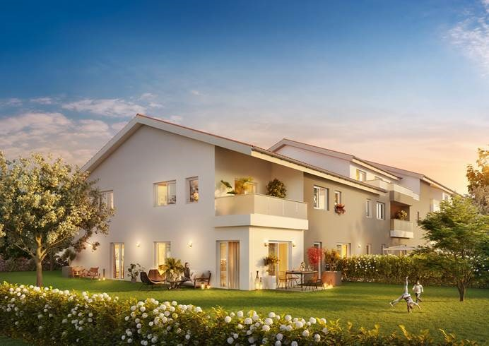 craponne-maisons neuves jardin privatif soirée