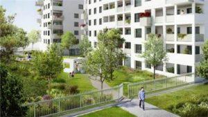 immobilier neuf villeurbanne-résidence neuve espaces verts passant