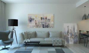 studio meublé lyon-salon meublé coin repas tapis parquet